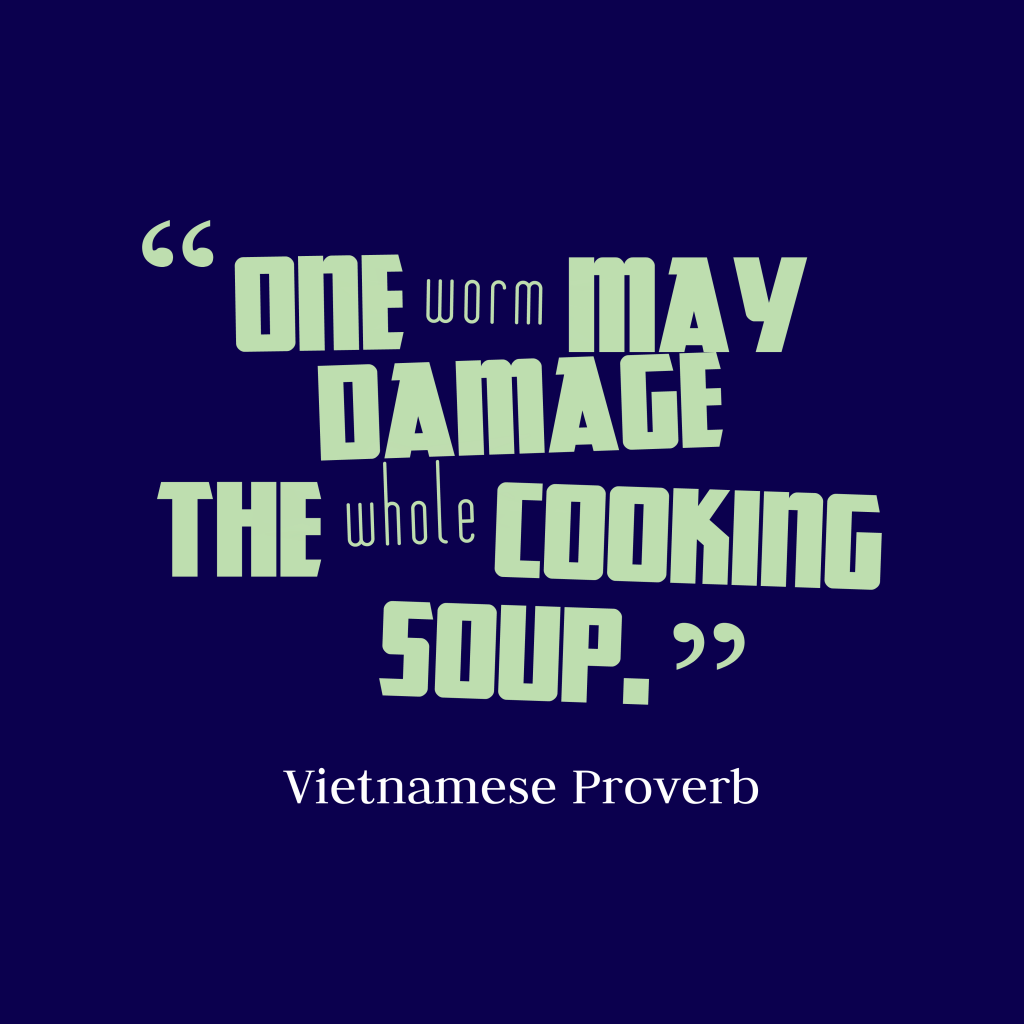 Vietnamese proverb about mistake.