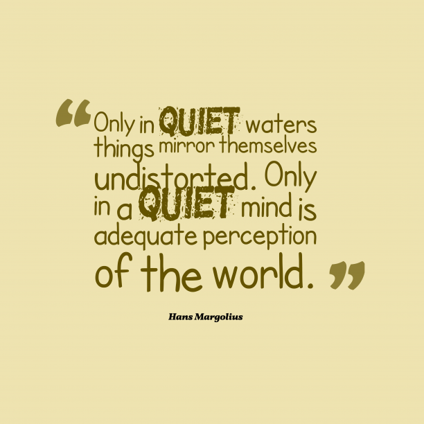 Hans Margolius 's quote about . Only in quiet waters things…