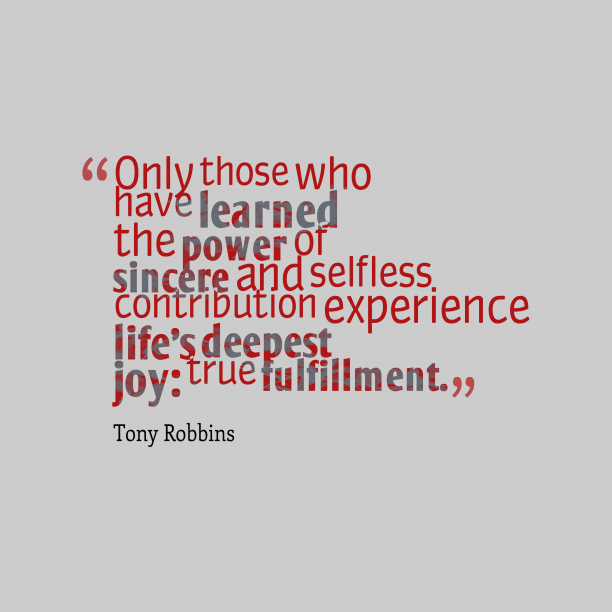 Tony Robbins quote about joy.