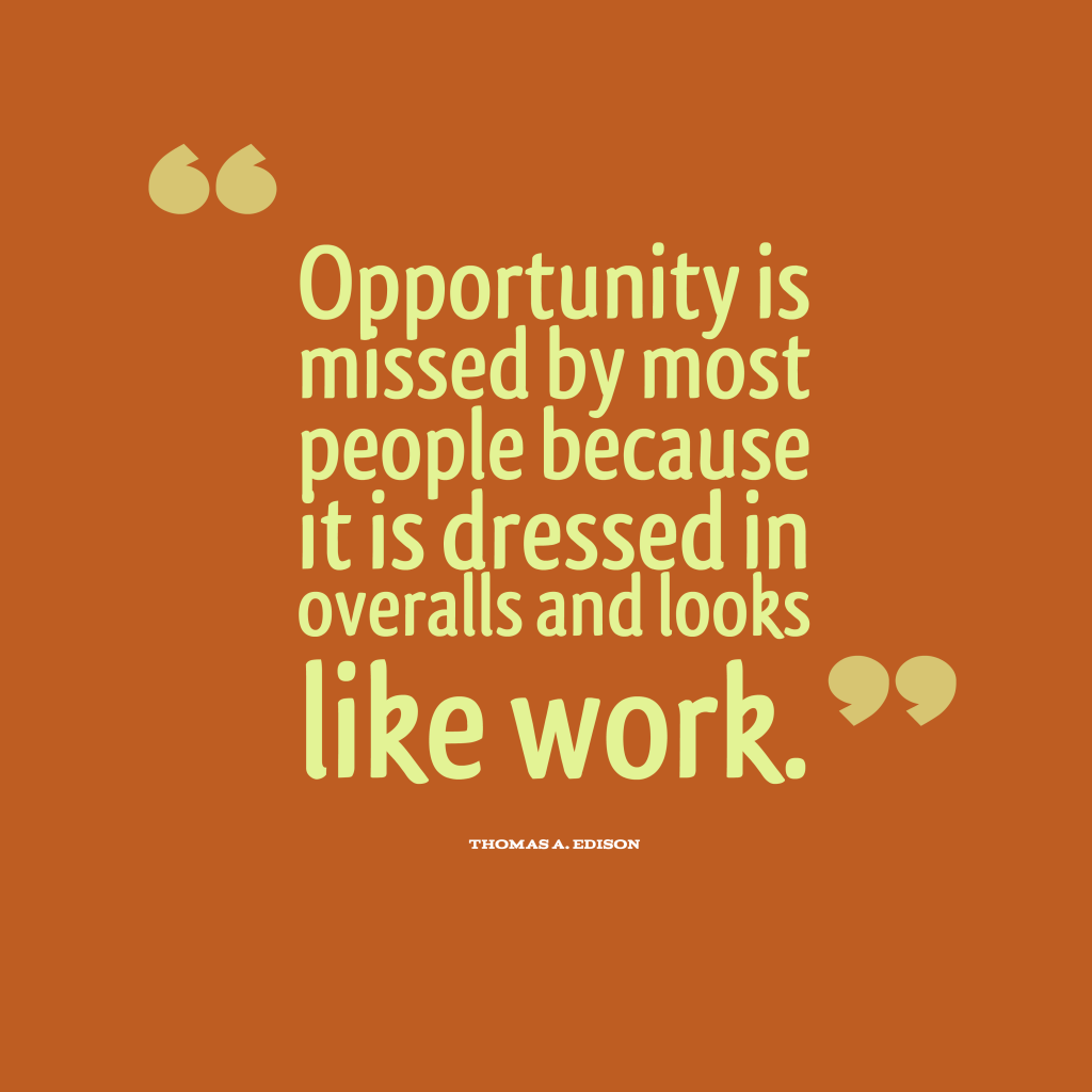 Thomas A. Edison quotes about work