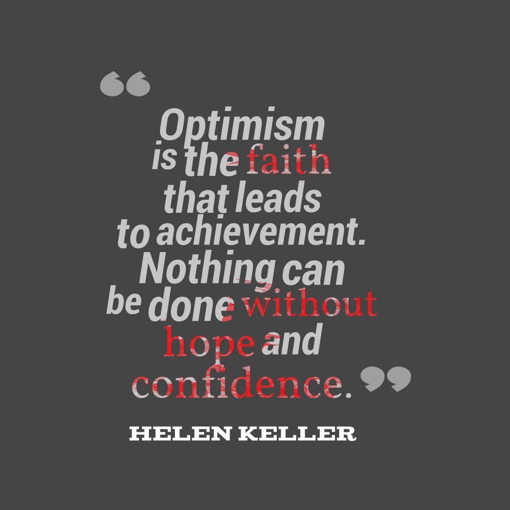 Helen Keller quote about motivational.