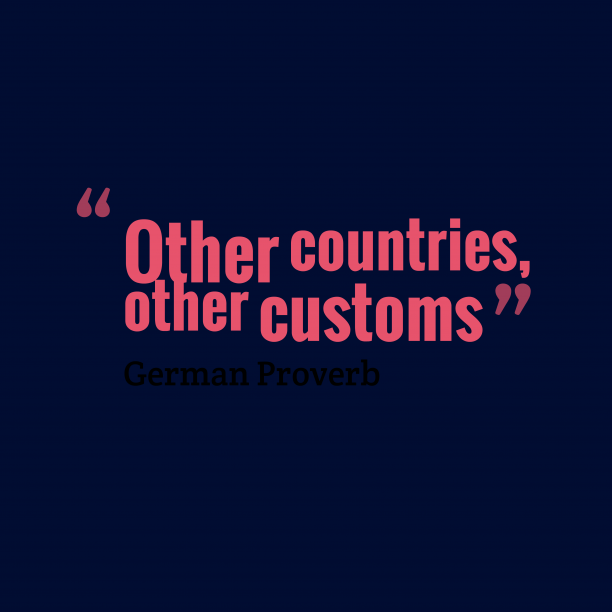 German proverb about countries.