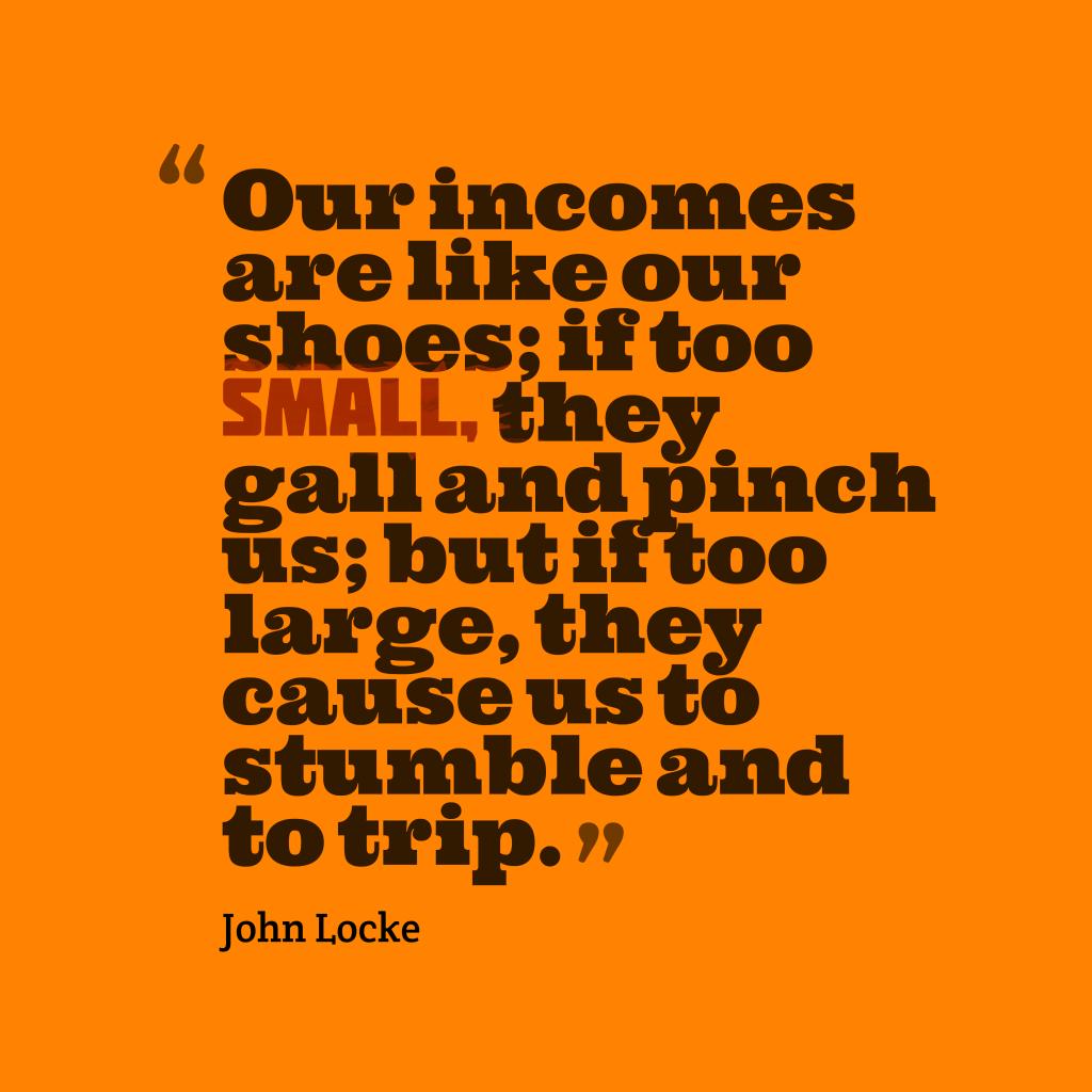 John Locke quote about finance.