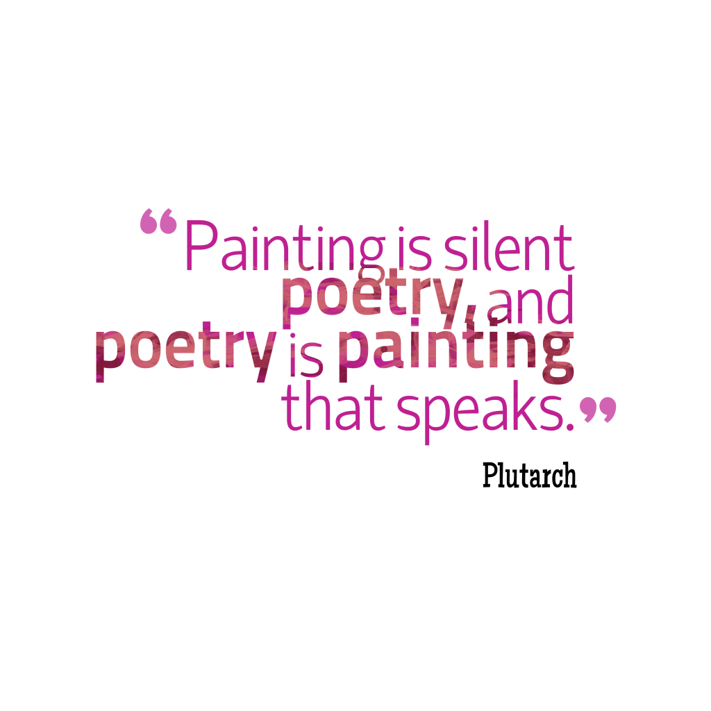 Plutarch quote about poetry.