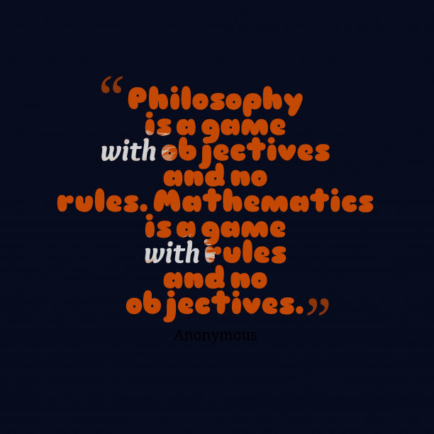 Philosophy is a
