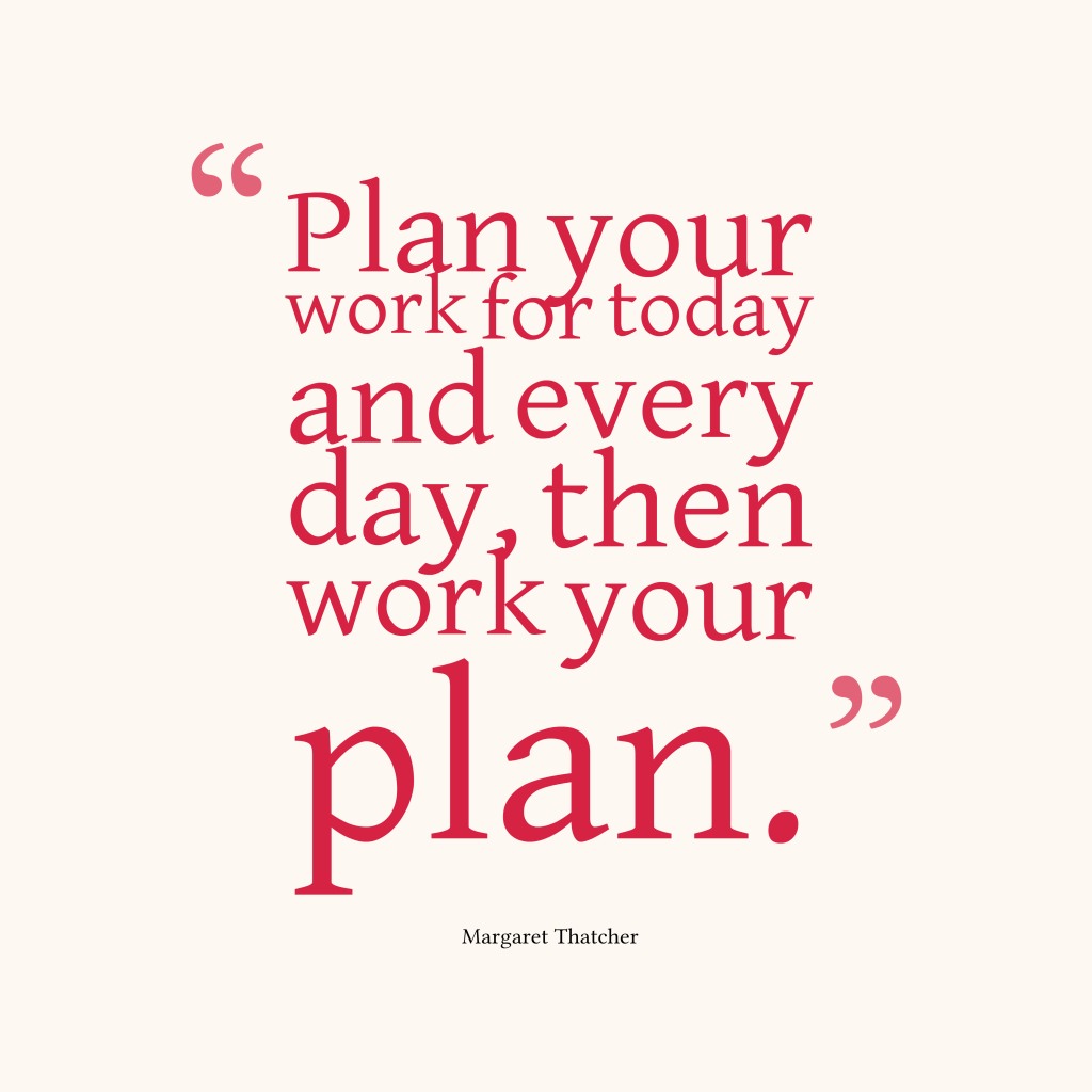 Margaret Thatcher quote about plan.