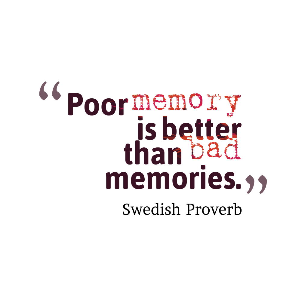 Swedish proverb about experiences.