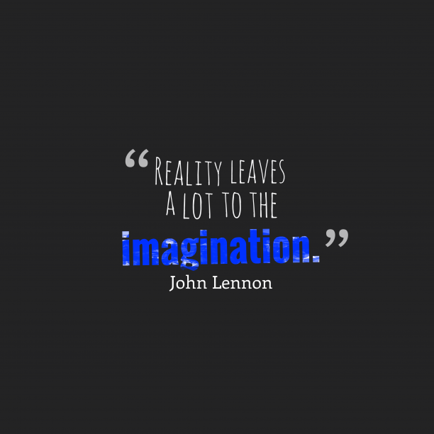John Lennon quote about imagination.