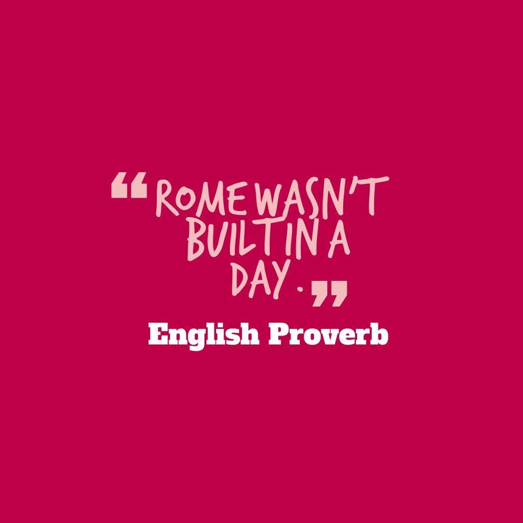 English proverb about create.
