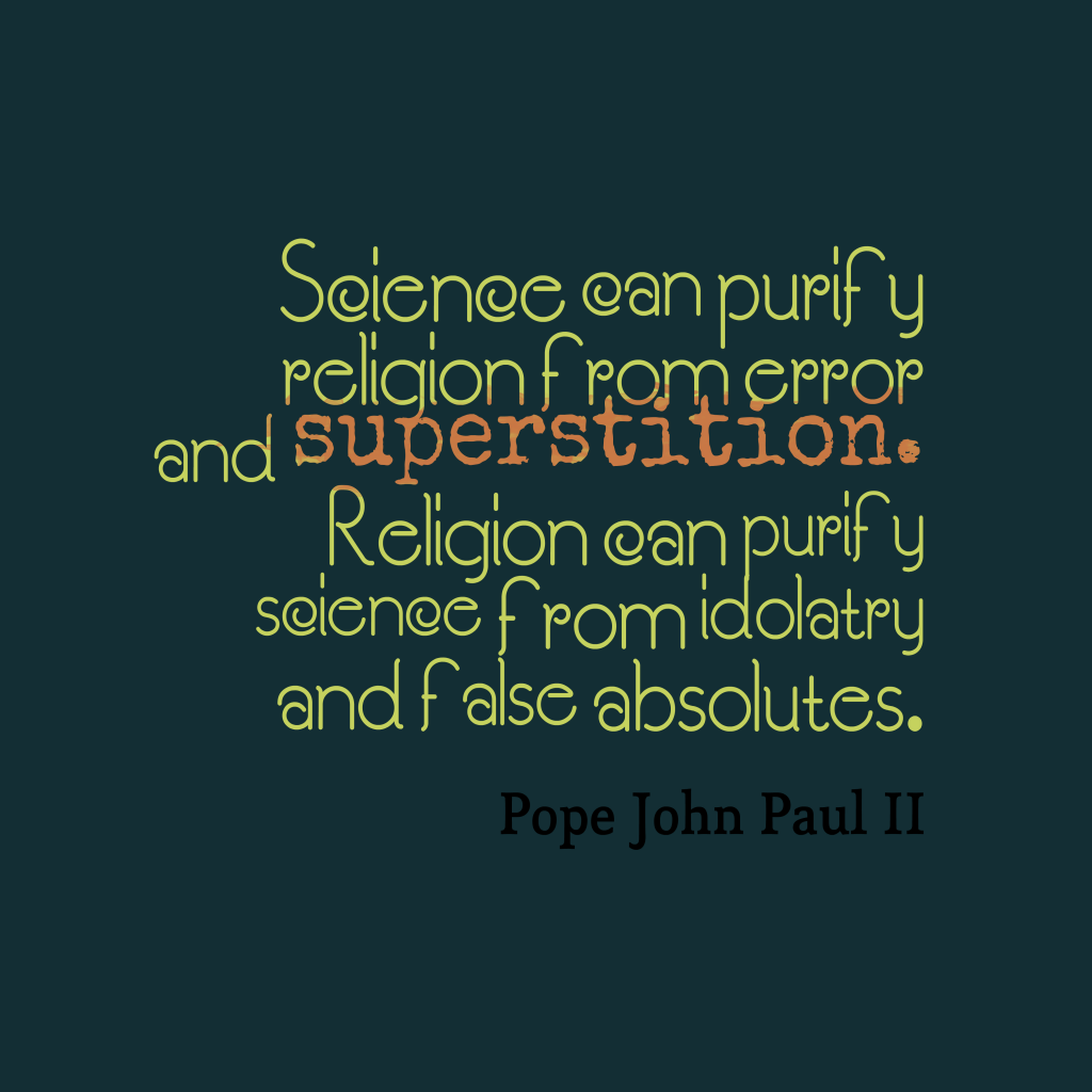 Pope John Paul II quote about religion.