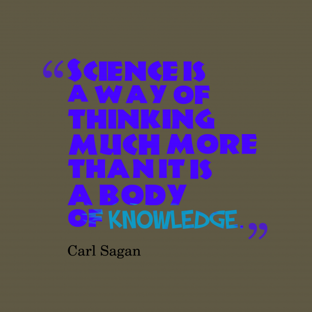 Carl Sagan quote about science.