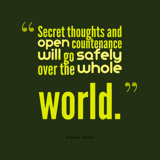 Secret thoughts and