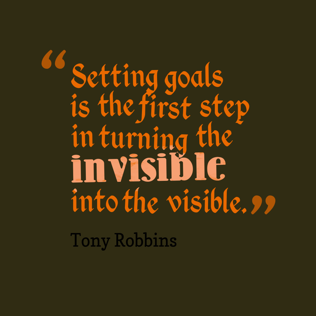 Tony Robbins quote about goals.