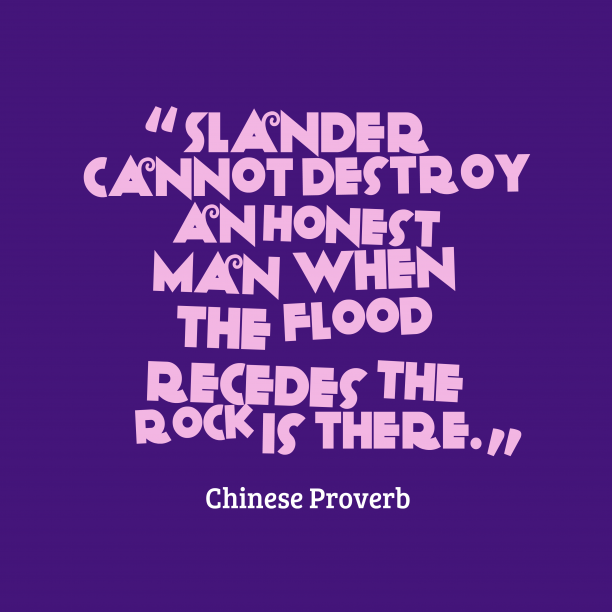 Chinese wisdom about honesty.