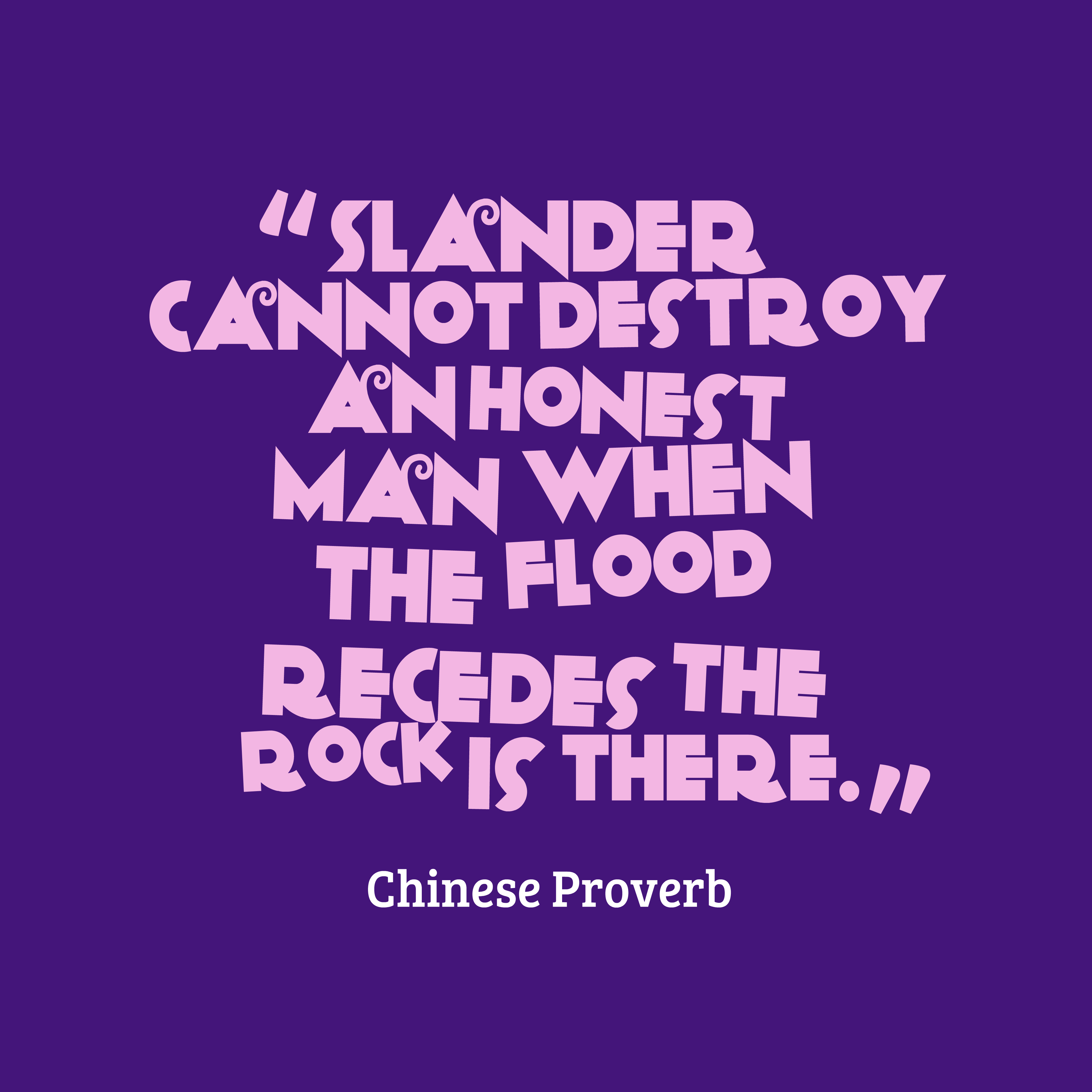 Chinese wisdom about honesty