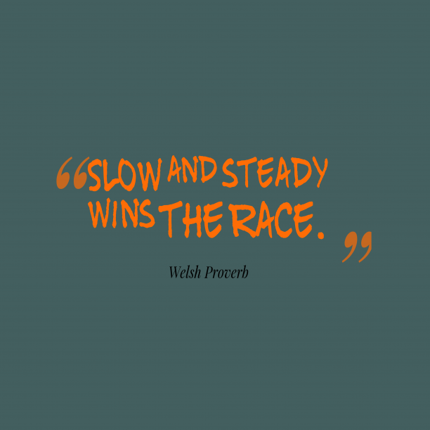 "essay on proverb - slow and steady wins the race ""slow and steady wins the race"" – meaning and explanation the famous saying, 'slow and steady wins the race this proverb states that a person who is."