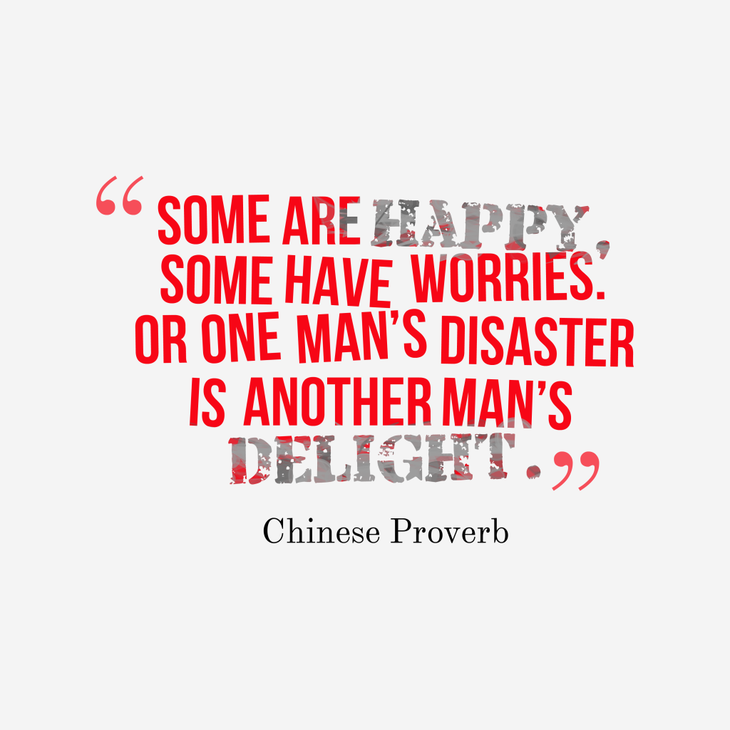 Chinese proverb about life.