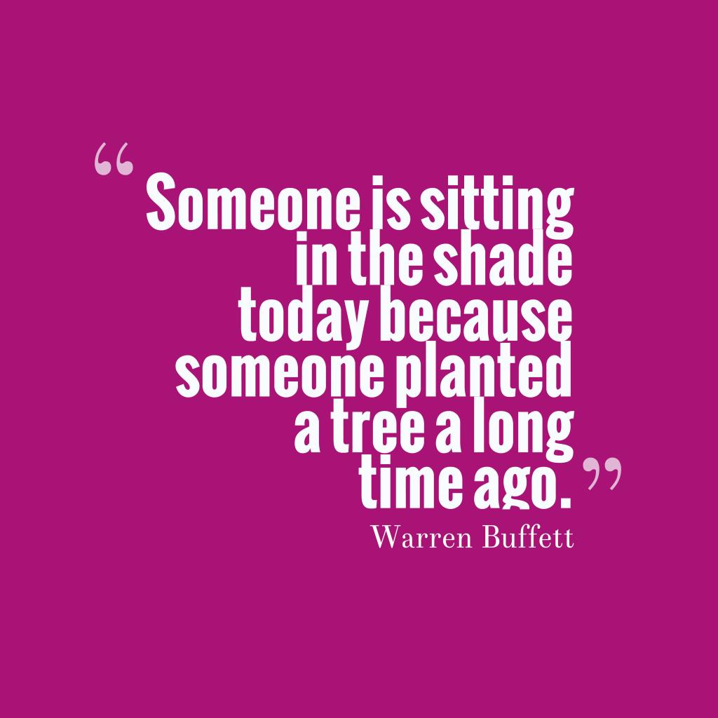 Warren Buffett quote about time.