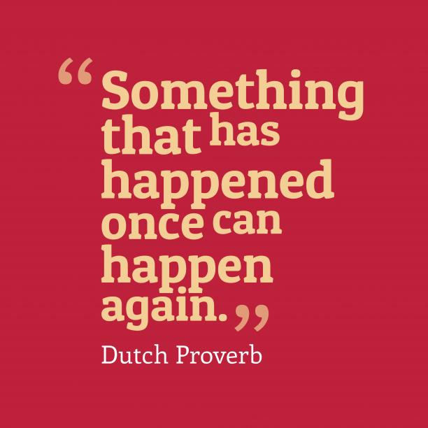 Dutch wisdom about problem.