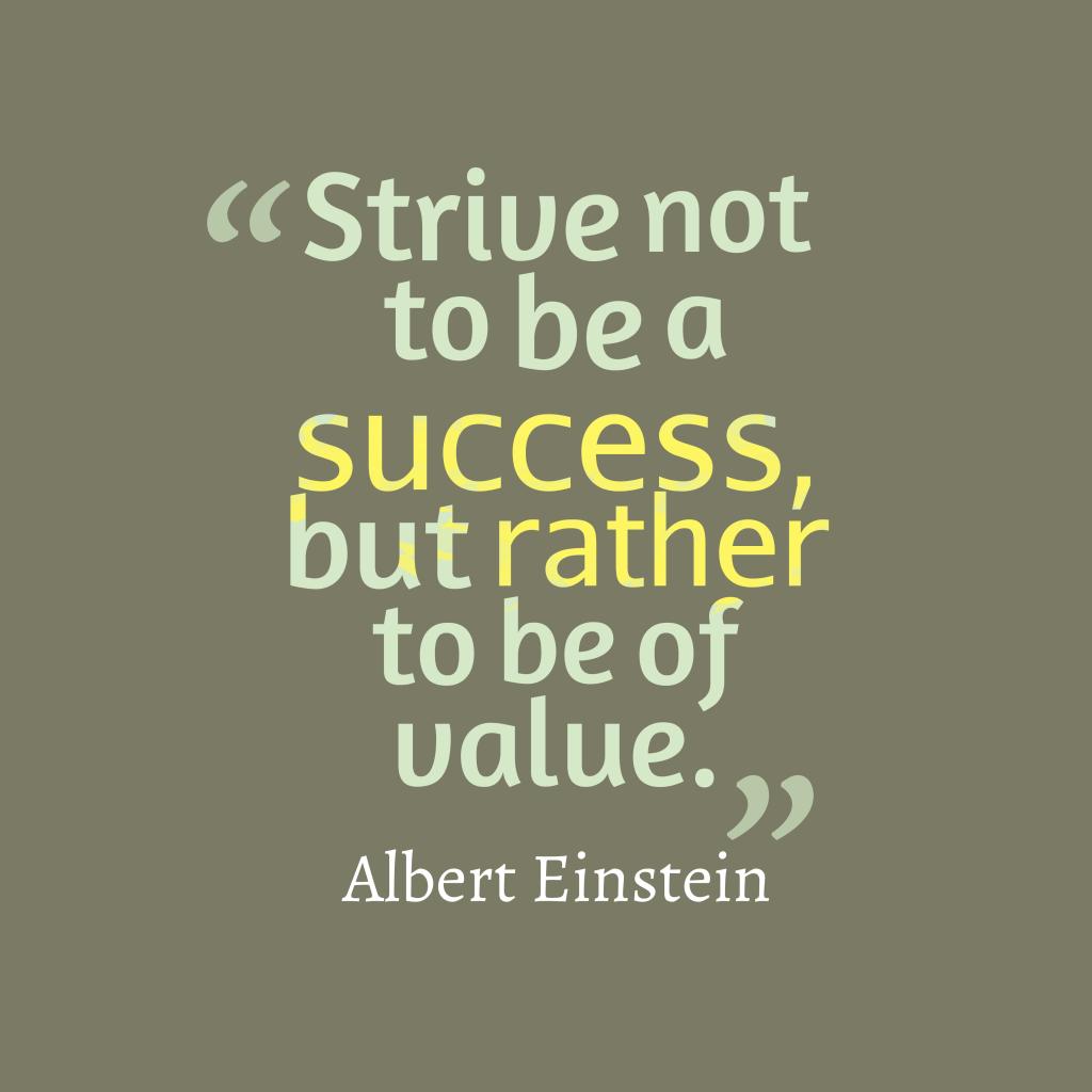 Albert Einstein quote about success.