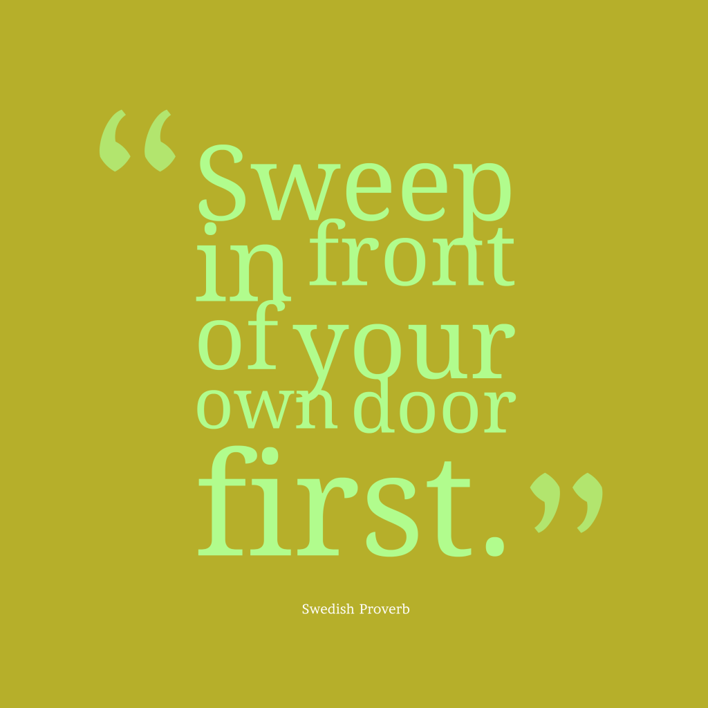 Swedish proverb about criticise.