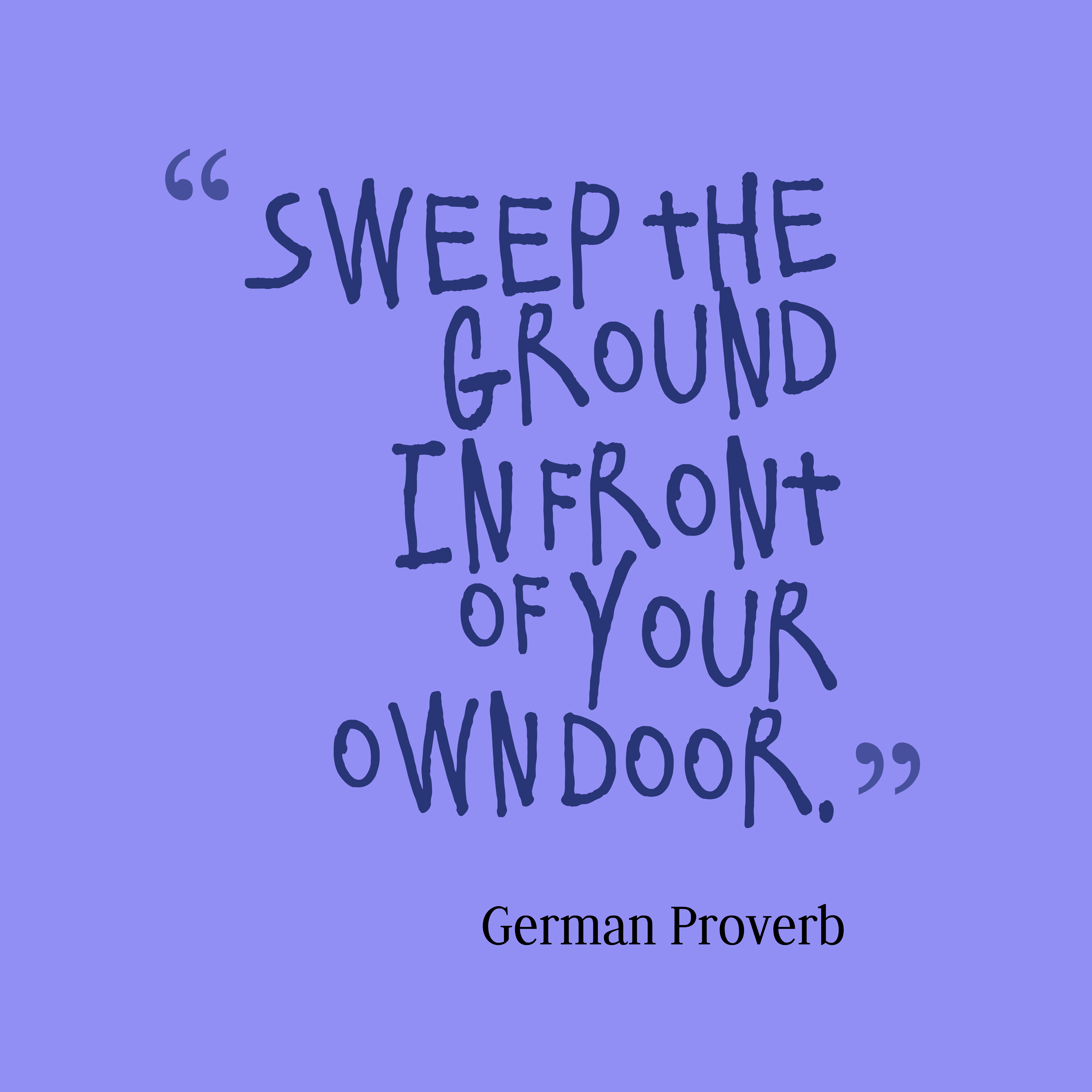 German Proverb About Business