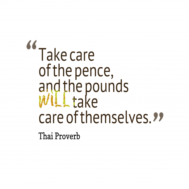 Thai proverb about care.