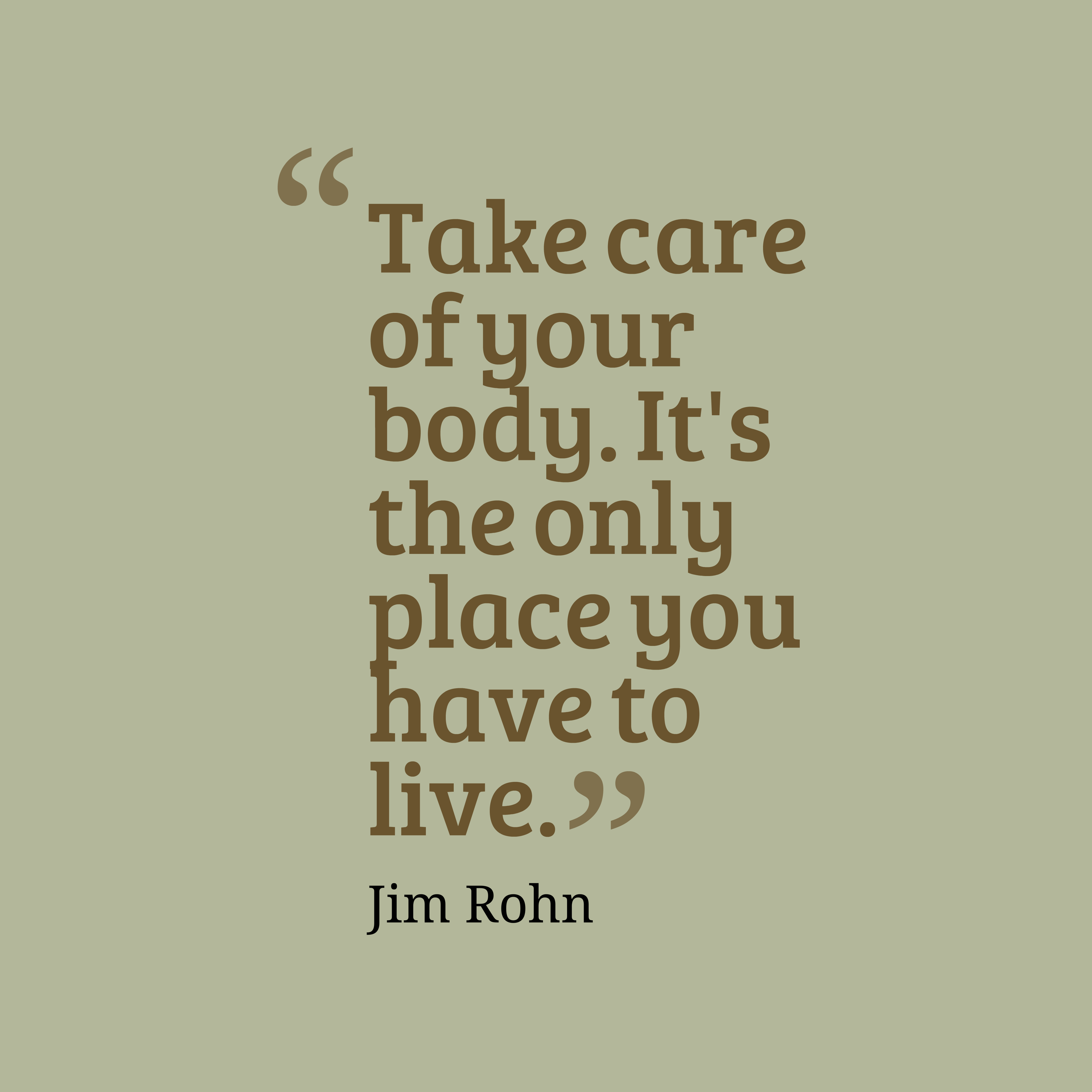 Jim Rohn Quote About Fitness