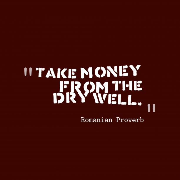 Romanian wisdom about advantage.