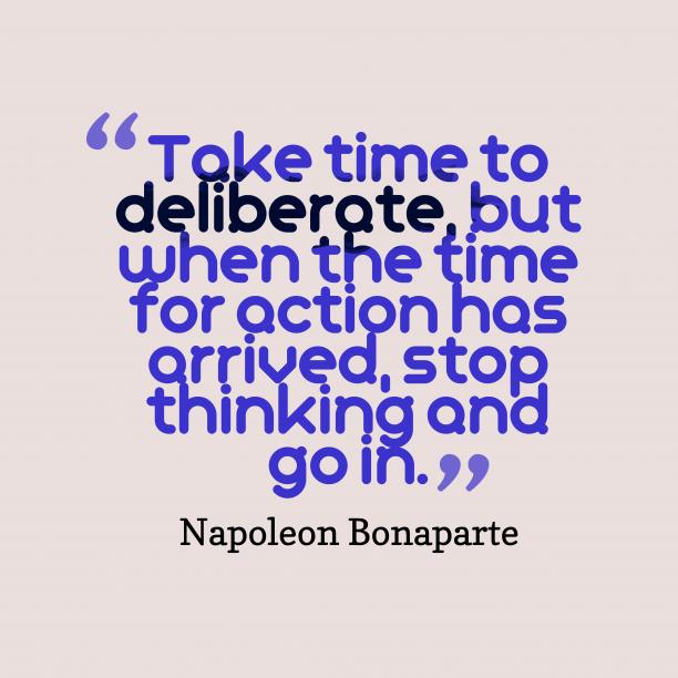 Take time to