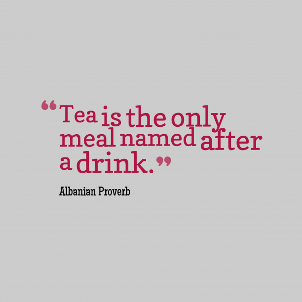 Albanian proverb about food.