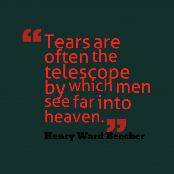 Henry Ward Beecher quote about men.