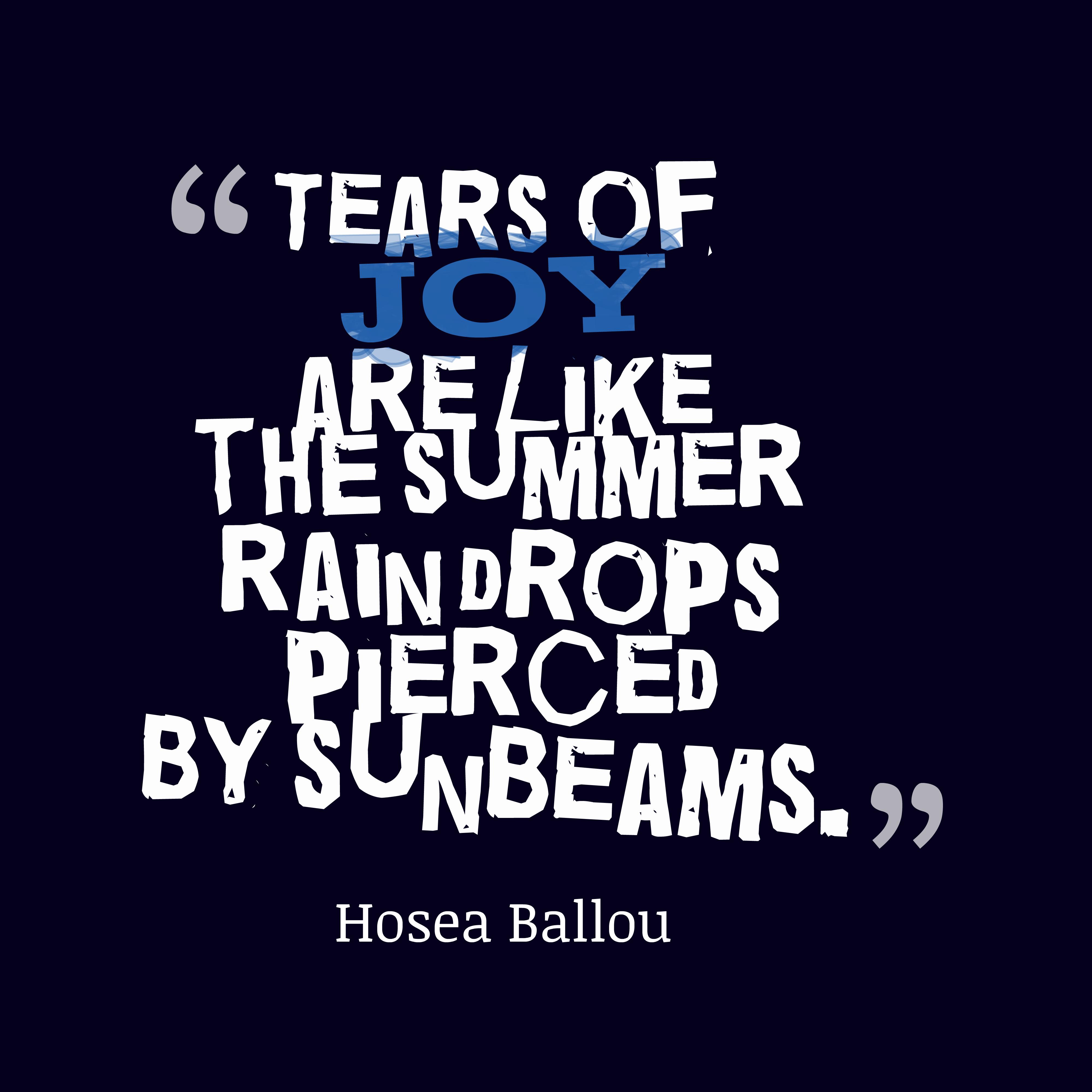 Hosea Ballou Quote About Rain