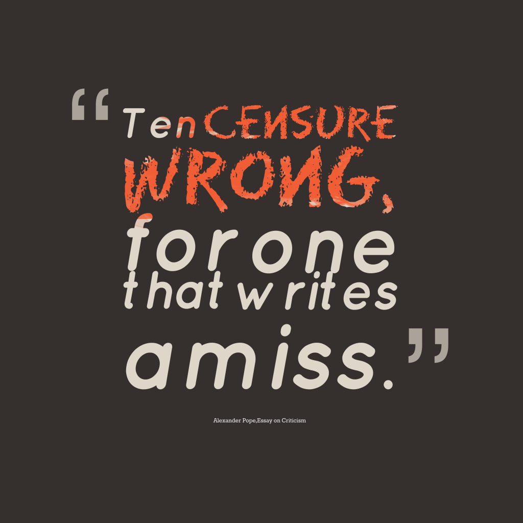Ten censure wrong,
