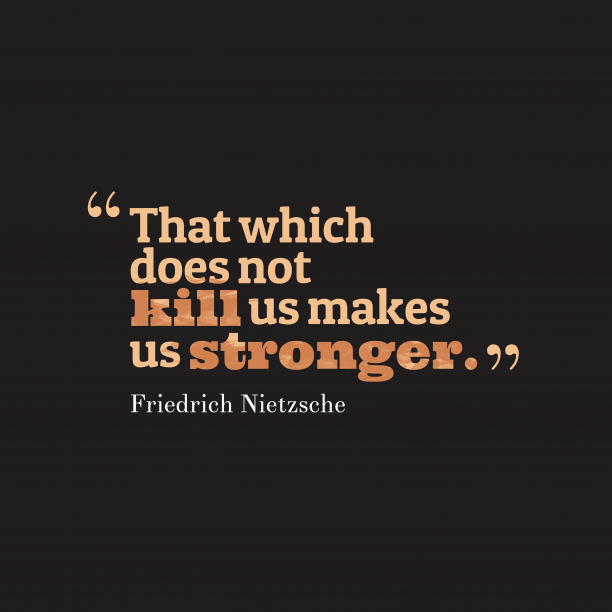 Friedrich Nietzsche quote about strength.