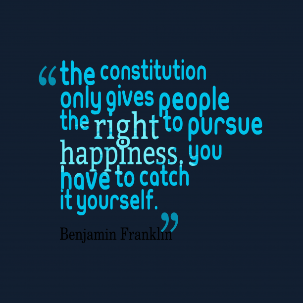 Benjamin Franklin 's quote about constitution . The Constitution only gives people…
