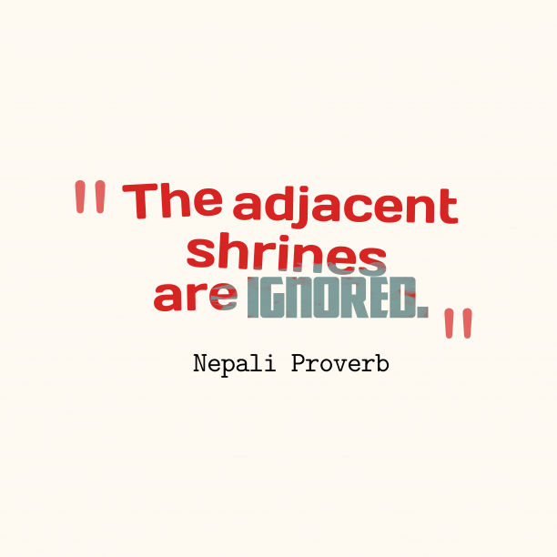 Nepali proverb about value