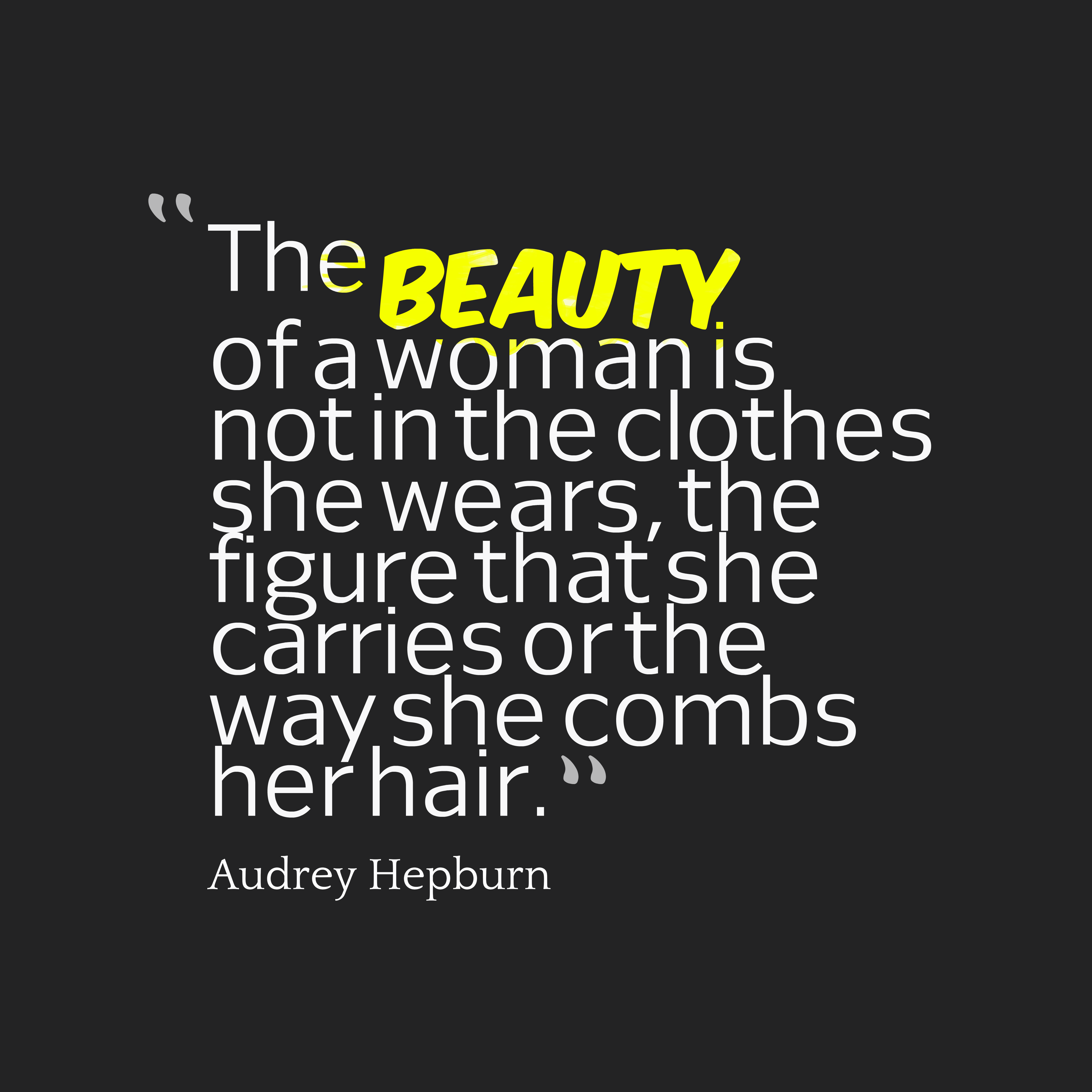 Picture Audrey Hepburn quote about beauty. | QuotesCover.com