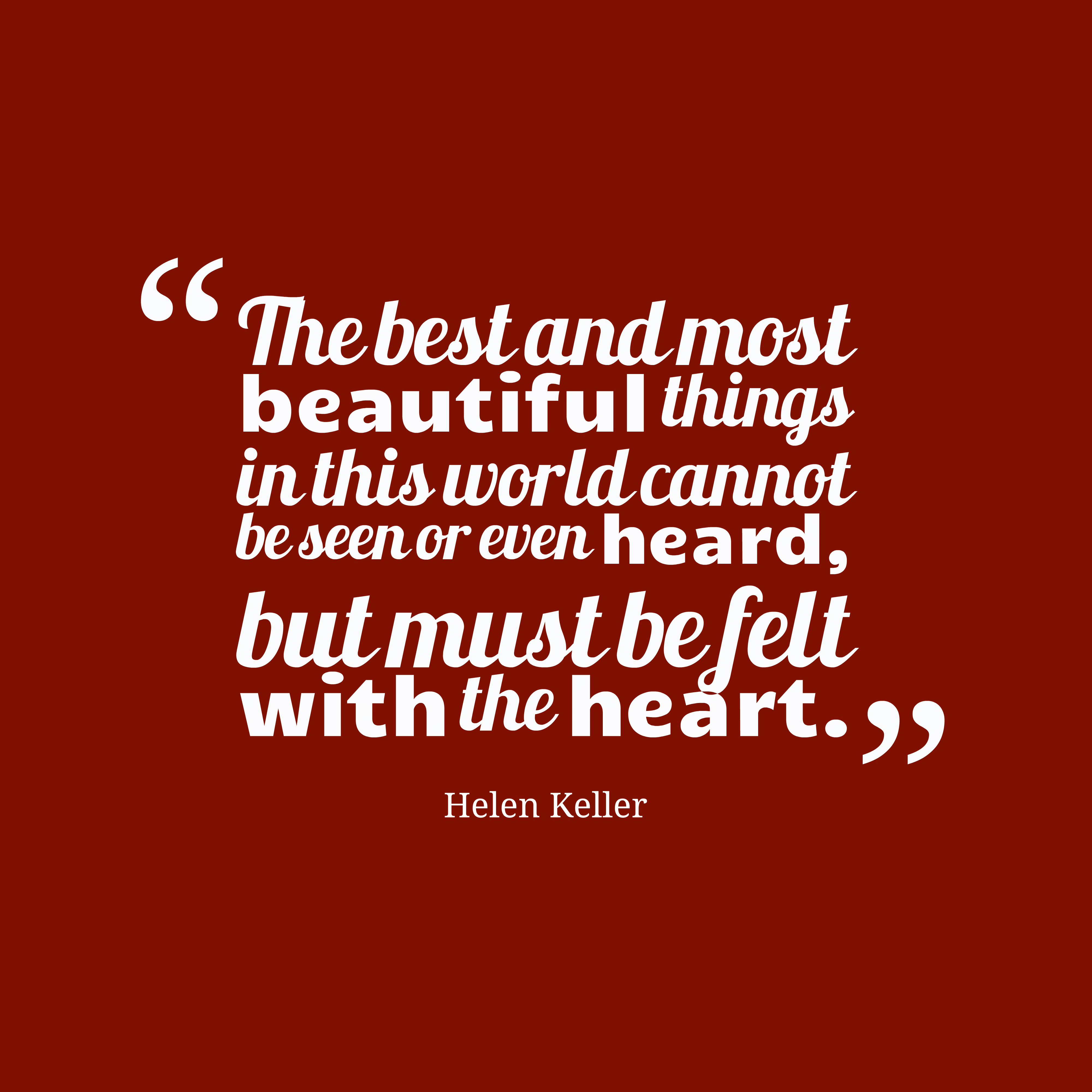 Helen Keller Quote About Beauty