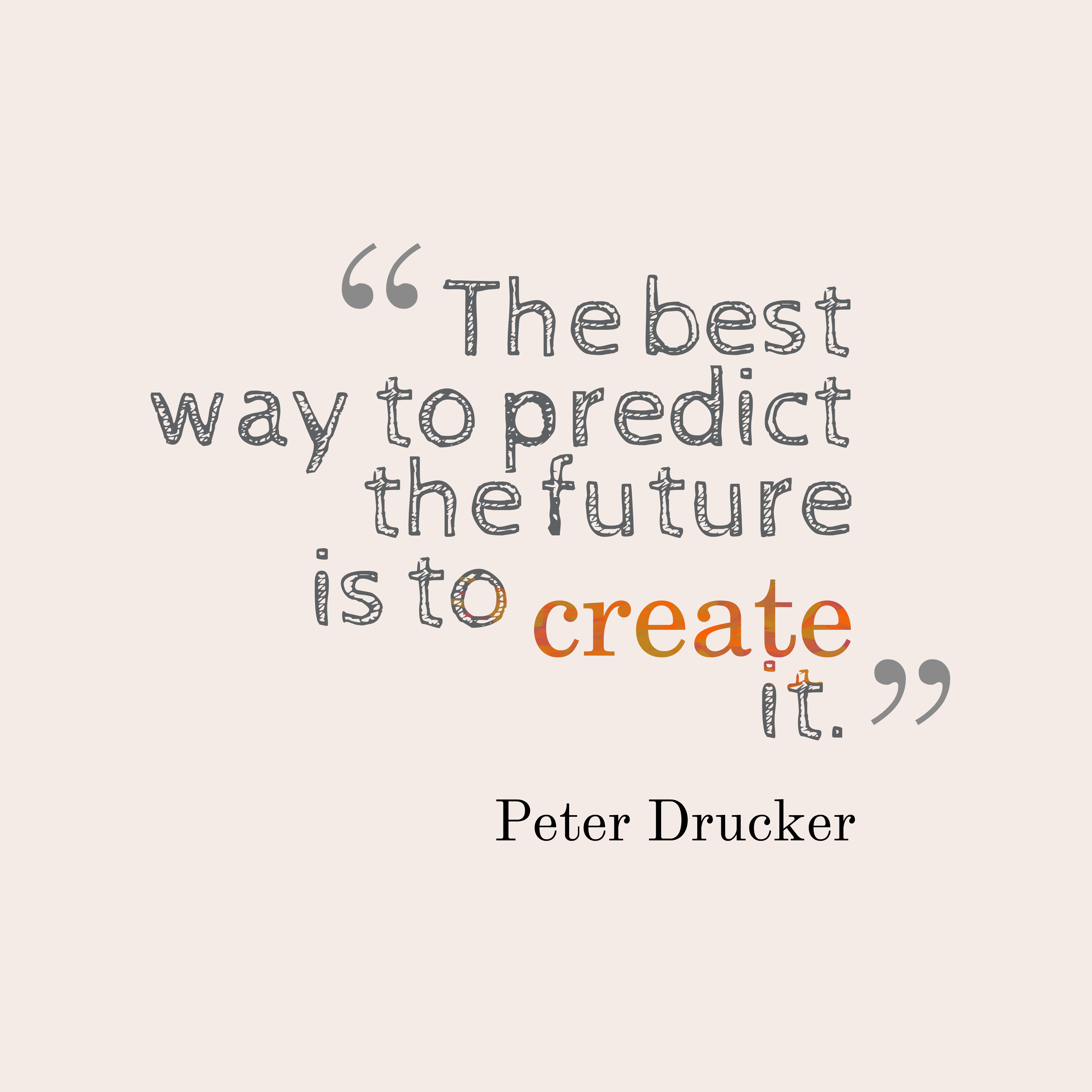 Picture Peter Drucker Quote About Future.