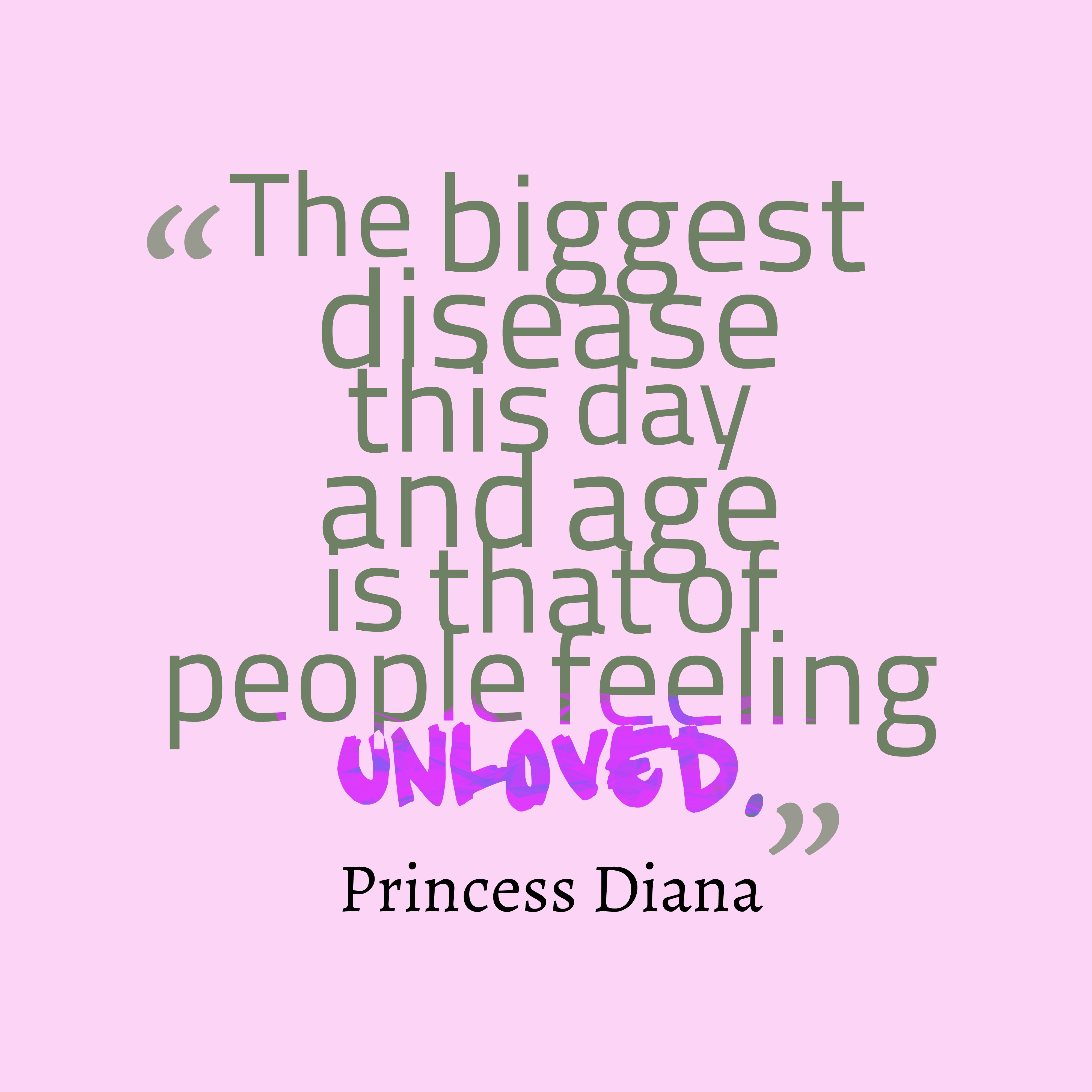Picture Princess Diana quote about disease. | QuotesCover.com