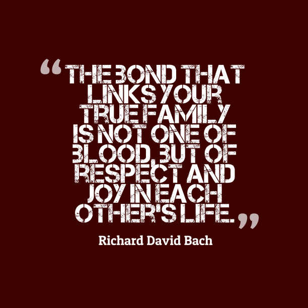 Richard David Bach 's quote about bond. The bond that links your…