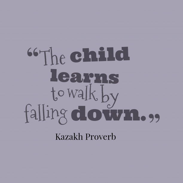 Kazakh proverb about learns.