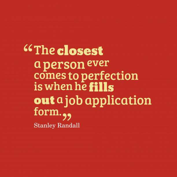 Stanley Randall quote about job.