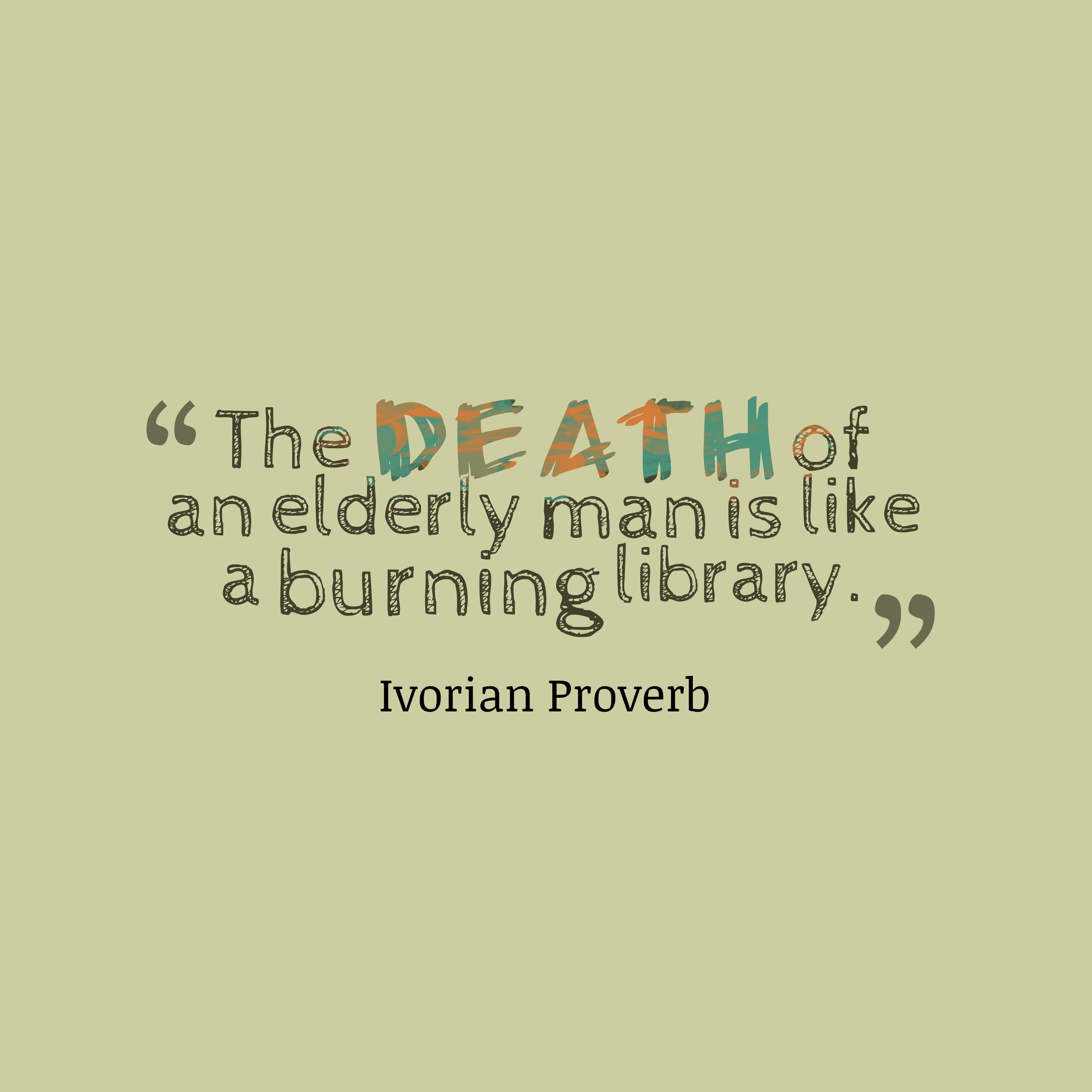 Ivorian Wisdom About Man