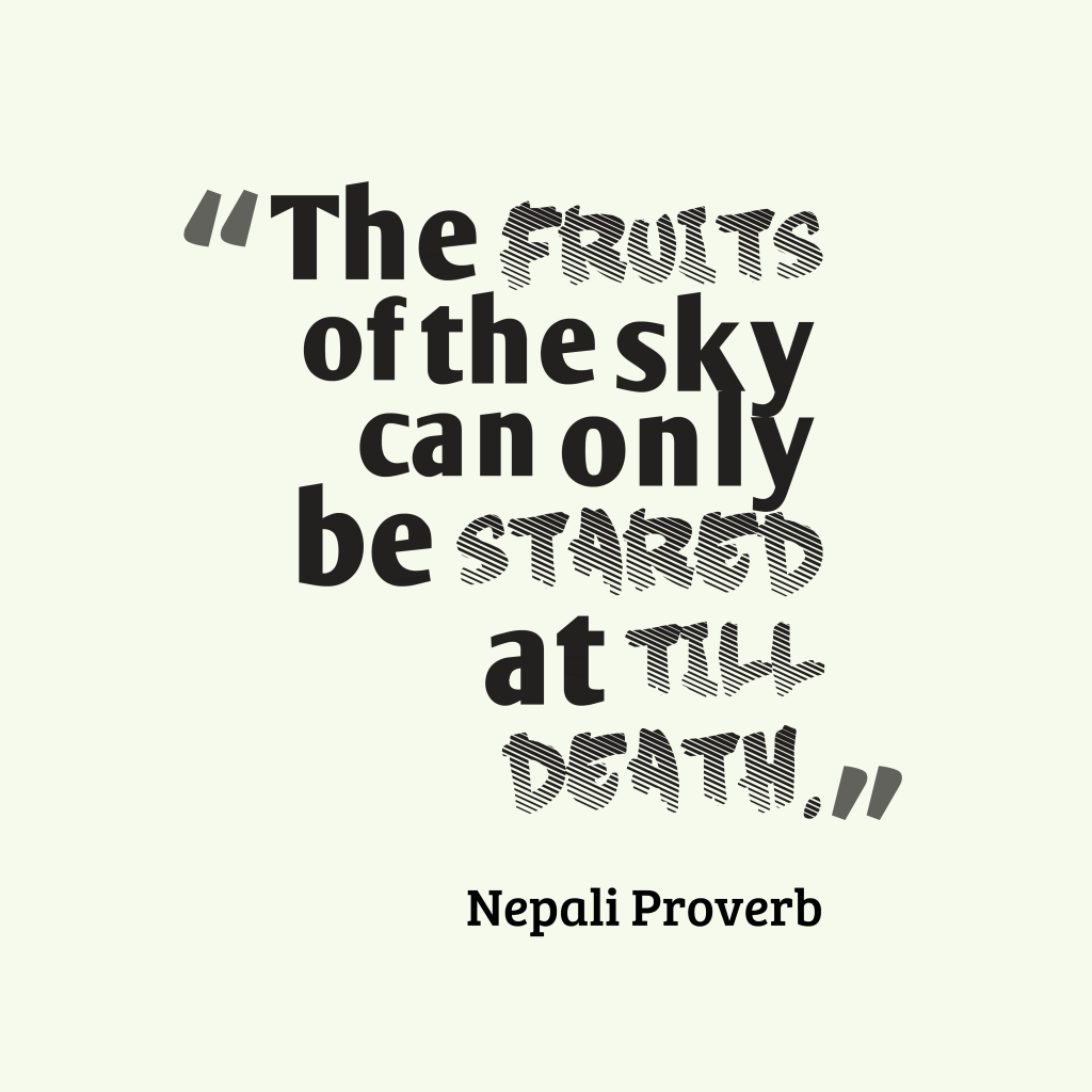 Nepali proverb about dream.