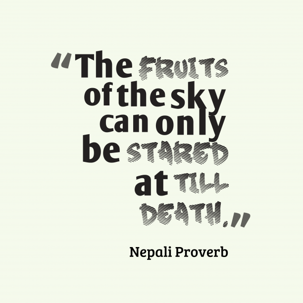 Nepali wisdom about dream.