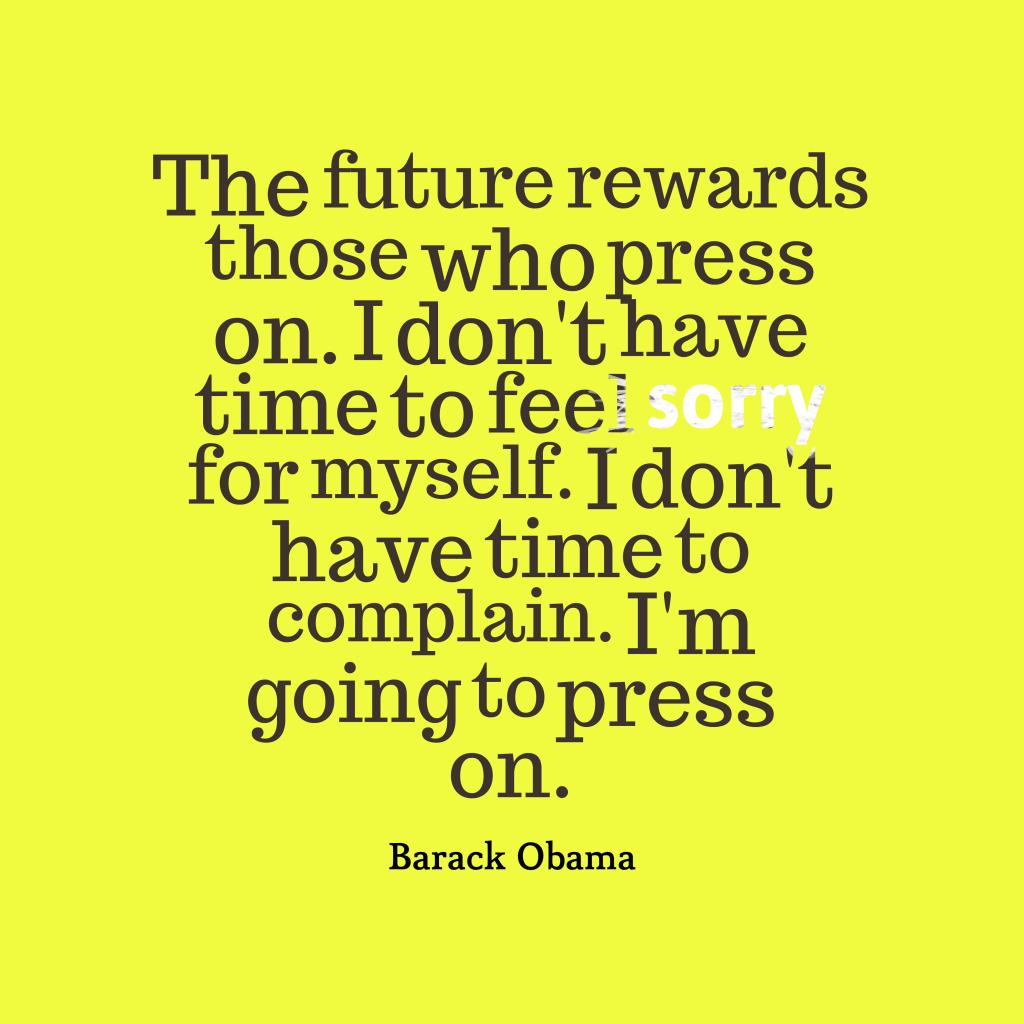 Barack Obama quote about future.