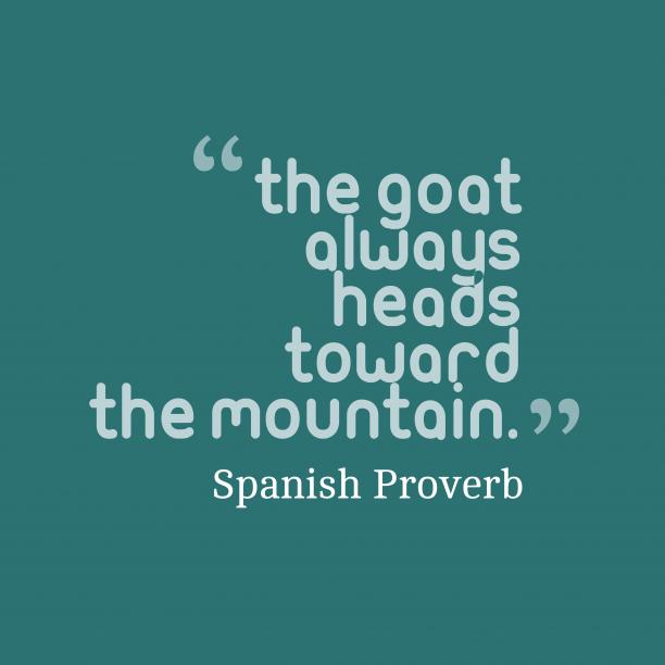 Spanish wisdom about journey.