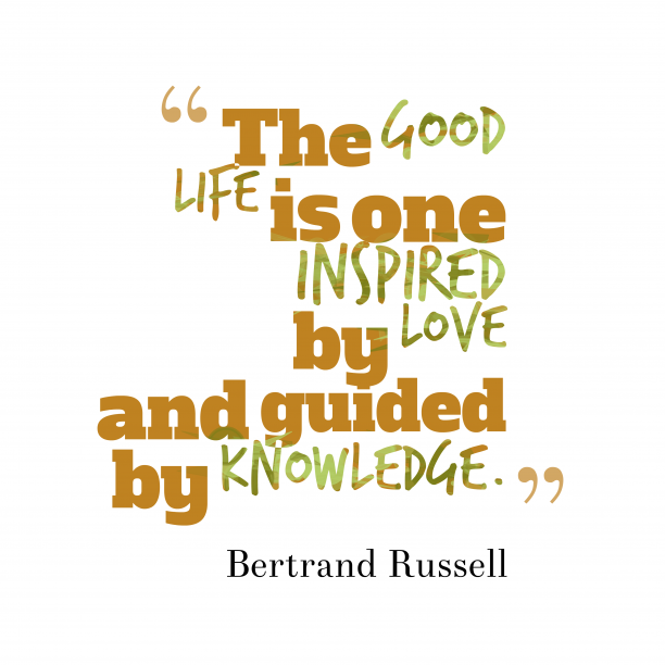 Bertrand Russell quote about knowledge.